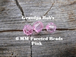 Faceted Beads - 6mm - Pink - 100 Count