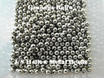 Hollow Metal Beads - Nickel - Size 1/8 - 100 Count Package