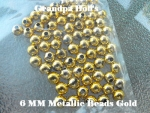 Metallic Beads - 6mm - Gold - 100 Count