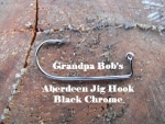 Aberdeen Jig Hooks - Black Chrome Finish - 100 Count Bag
