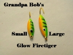 Glow Willow Ice Jig - Firetiger